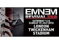 X2 Eminem tickets Twickenham Sunday 15th July face value
