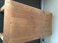 Modern light oak coffee table