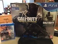 NEW 1TB Playstation 4 (PS4 Slim) with Battlefield 1 and Call of Duty infinate Warfare - Remastered