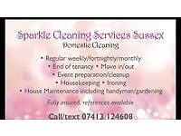 Sparkling Cleaning Service ~ Sussex friendly reliable cleaning service