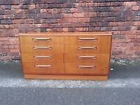 VINTAGE RETRO 60's FURNITURE G PLAN TEAK FRESCO CHEST OF 8 DRAWERS