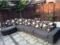Large rogers designer corner sofa