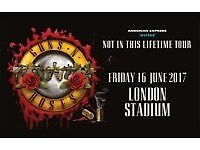 2 tickets for Gun n Roses at Olympic Stadium London and 1 night stay in Travelodge Fri 16th June