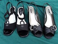 sandals size 7 sling backs both for $30.00great for a criuse