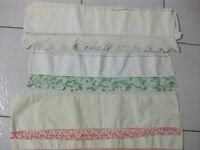 Hand made lace on partial pillow cases for sale