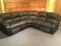 Power recliner corner sofa