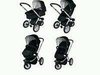 All terrain 3 wheeled pushchair/travel system 'Mothercare My3'