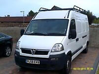 movano roof rack , nearly new, rhino with back door ladder
