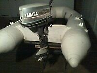 5HP YAMAHA 2-STROKE OUTBOARD MOTOR & 2.7M AVON INFLATABLE RIB - WITH ALL DOCS & LOADS OF EXTRAS