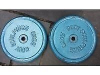 WOW TWO 20KG PLATES MASSIVE WEIGHTS FIRST 30 CASH FOR BOTH BE QUICK