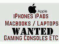 Laptops, mobile phones, consoles, tvs and tablets wanted