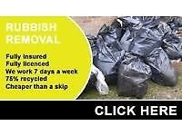 WASTE REMOVALS same day all Rubbish clearances house garden tip office all areas covered 07514907300