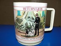 Vintage Star Wars Return of the Jedi Deka Plastic Mugs 1983.....