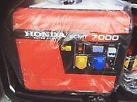 Unwanted gift new Honda generator 7kva