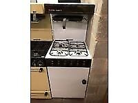 BROWN/WHITE 55CM EYE LEVEL GAS COOKER