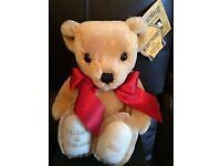 HandMade Merrythought Gold Bear Perfect for Gift...........Brand New Boxed