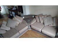 Beautiful corner sofa with speakers built in.