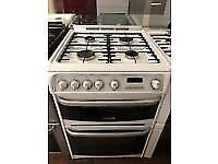 WHITE 60CM CANNON GAS COOKER