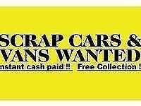 VEHICLES WANTED **** RESALE OR SCRAP