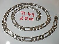 sterling silver figaro curb chain-24 inch