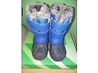 CAMPRI Snow Boots Infant Boy size C5 Blue/Black with box