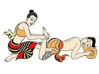 classic Thai Yoga Massage on the floor/ Swedih masage