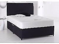new double bed in black free delivery