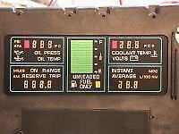 INSTRUMENT CLUSTER CENTER ENGINE INFO LCD Corvette 1984