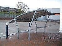 Bowland Cycle Shelter 3 Metres Steel, Plus 2 x Rounded Cycle Rack (5)