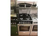 BLACK/SILVER 50CM FLAVEL EYE LEVEL GAS COOKER