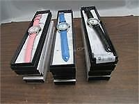 Lot of 12 Croton Leather Strap Manhattan Watches
