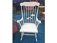 Vintage Farmhouse Rocking Chair Shabby Chic Nursing Armchair / Can Deliver