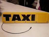 Excellent condition Taxi sign - barely used.