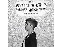 2 Standing Pit Tickets Justin Bieber Glasgow Sunday 30th October