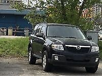 Black MAZDA TRIBUTE 2008
