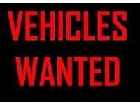 CARS VANS 4x4s WANTED RUNNING OR NOT