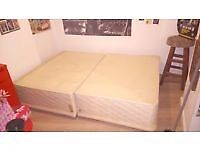 Double Divan Bed base with drawers