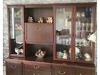 Solid wood Mahogany Display cabinet