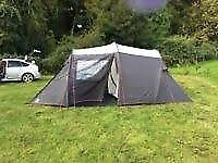 Eurohike Humber 4 man tent, double airbed and pump and a small gas stove