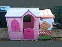 Tikes Princess Garden Playhouse with new extension