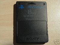 Playstation 2 memory card 8MB in different colours