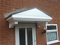brand new pitched door canopy with free delivery