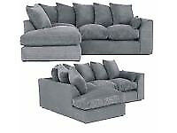 *Brand New Jumbo Cord Corner/3+2 Sofas*Availble in Stock**Express Delivery**Call 07424775152