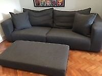 HEALS SOFA ( GRAND OPERA) + MATCHING FOOT STOOL