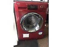 1 year old red beko washing machine
