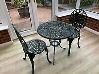 Cast iron garden table chairs set