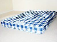 Brand New Quilted Comfy Double Mattress in Blue Fabric FREE delivery factory sealed