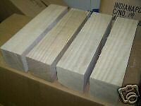 TWO (2) LARGE SASSAFRAS TURNING BLOCKS LATHE WOOD BLANKS 4 X 4 X 11""