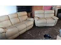 Bargain Clearance Discount MUST GO! Reduced 3+2 Leather Recliner Sofas, Smoke & Pet Free Home