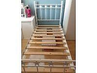 Metal white star bed frame no matress
